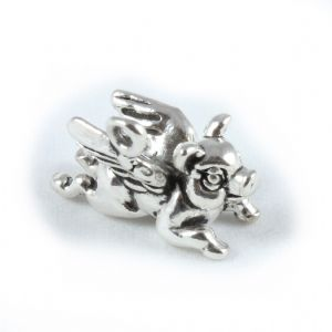 Charm School UK > Sterling Silver Charms > Fantasy / Mystical > Flying Pig